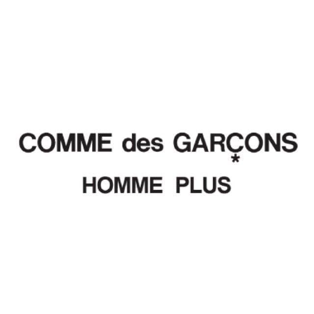 メンズ最高級ライン「コムデギャルソン オム プリュス」のロゴ
