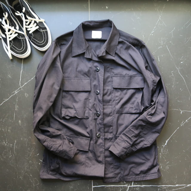 1-1.U1万円!大人の名作ミリタリーBDUジャケット(ブラック357)