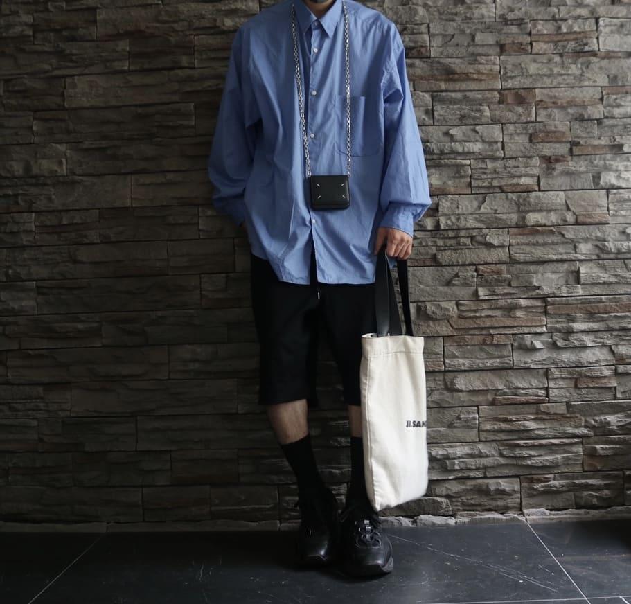 ③:【Graphpaper(グラフペーパー)】ビッグシルエットブルーシャツ
