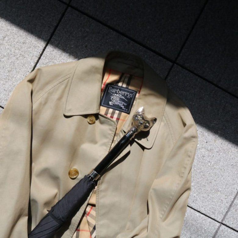 10.Vintage バーバリー ステンカラーコート(春・秋)